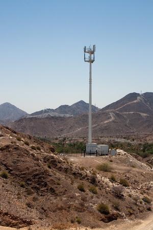 산 사막 휴대 전화 타워
