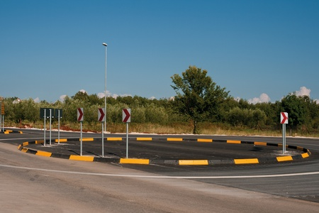 Small circle country road interchange Stock Photo - 10816426