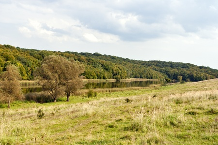 River Ros landscape at early autumn. Central Ukraine. photo