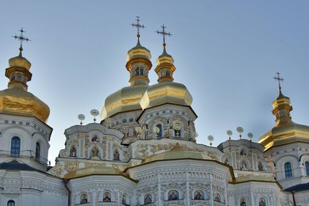 Uspenskiy Cathedral in Pechersk Lavra monastery in Kiev, Ukraine. UNESCO world heritage. photo