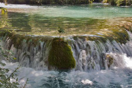 Waterfall at Plitvice Lakes National Park photo
