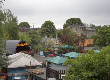 Copenhagen, Denmark - May 28, 2010: Famous Freetown Christiania, a self-proclaimed autonomous neighbourhood of about 850 residents in the borough of Christianshavn in Copenhagen, Denmark. Stock Photo - 12768184