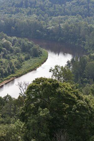 sigulda: Gauja River view from Turaida castle  Sigulda, Latvia  Stock Photo