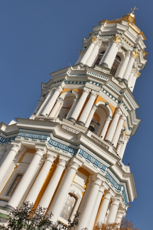 Great Bell Tower of Pechersk Lavra monastery in Kiev, Ukraine.  photo