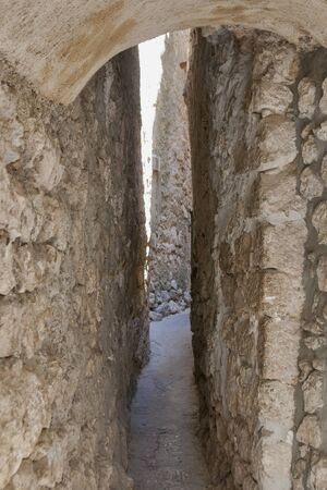 Street Klancic is only 43 cm wide in its narrowest part  Vrbnik, island Krk, Croatia  photo