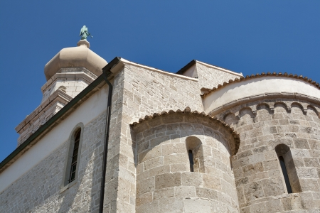 assumption: Cathedral of Virgin Marys Assumption. Town of Krk, on the island of Krk, Croatia.