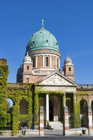 Famous cemetery Mirogoj in Zagreb, Croatia photo