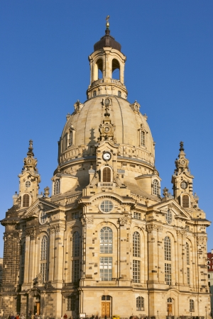 Dresden Church of Our Lady (Frauenkirche) is a Lutheran church in the capital of the German state of Saxony. photo