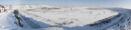 Winter Orhei Vechi panorama in Moldova photo