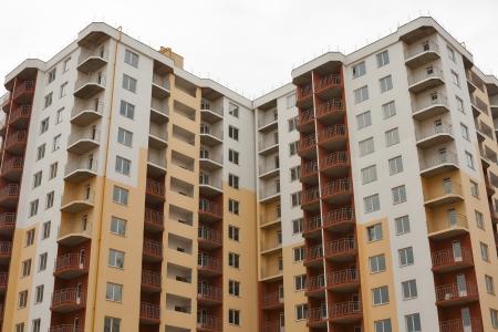 モダンなコンドミニアム アパート地区を構築 写真素材
