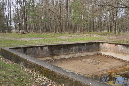 adolf: Outdoor swimming pool in Adolf Hitler residence Werwolf near Vinnitsa, Ukraine