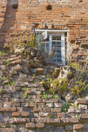 grates: Window with grates of old building in Vinnitsia, Ukraine