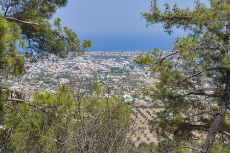 Rhodes landscape from the high mountain photo
