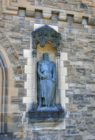 gatehouse: Statue of William Wallace, Edinburgh Castle, Scotland. Unveiled in 1929 on the Gatehouse. Stock Photo