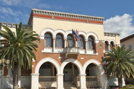 council: Porec City Council building in Istria, Croatia Stock Photo