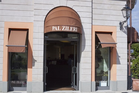 pal: MUGELLO ITALY  SEPTEMBER 11 2014: Facade of Pal Zilery store in McArthurGlen Designer Outlet Barberino situated close to Florence. Pal Zilery is an Italian luxury man fashion house founded in 1970.