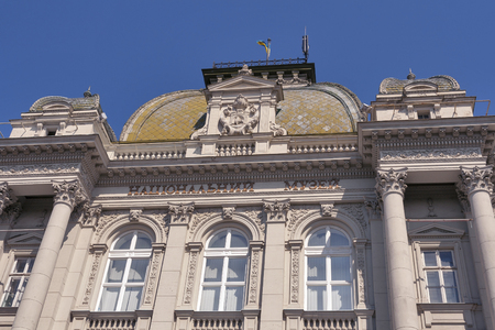 grandiose: Andriy Sheptytsky National Museum in Lviv, Ukraine. It was founded in 1905 in neorenaissance grandiose building. Editorial