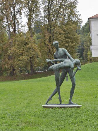 ljubljana: Tivoli park statue in Ljubljana, Slovenia