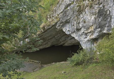 enters: Place where Pivka River enters Postojna Cave, Slovenia.