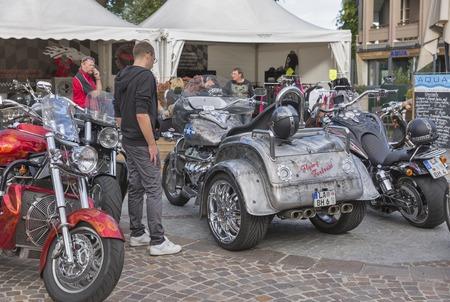 Velden, Oostenrijk - 8 september 2015: Bikers uit heel Europa tijdens de jaarlijkse Europese Bike Week festival. European Bike Week behoort tot Europa grootste en beste motorfiets evenementen nu.