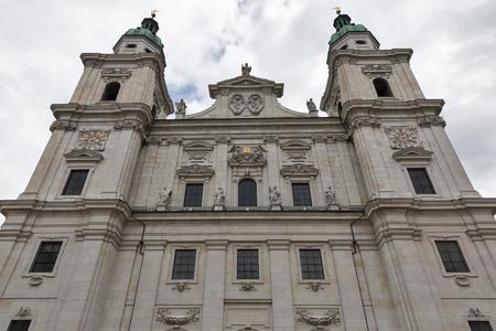 dom: Catholic Cathedral Dom facade in Salzburg, Austria.