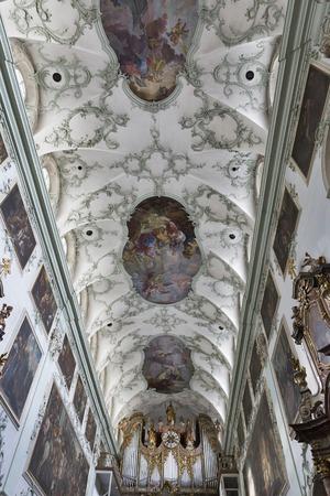 collegiate: Saint Peter Collegiate Church interior in Salzburg, Austria.