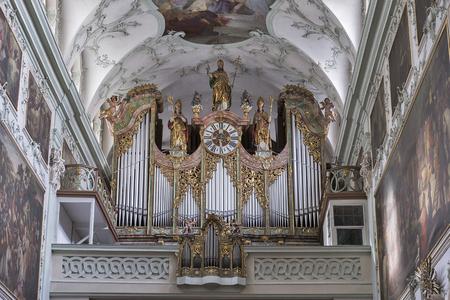 collegiate: Saint Peter Collegiate Church interior organ in Salzburg, Austria. Editorial