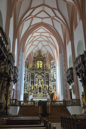 saint michael: Saint Michael Basilica formerly Collegiate Church interior at Mondsee, Austria. Editorial