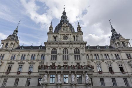 steiermark: Town hall or Rathaus facade in Graz, Austria