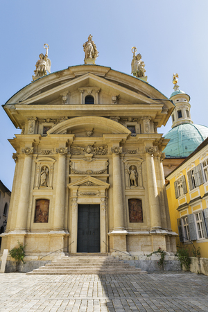 ferdinand: Mausoleum of Emperor Franz Ferdinand II and Catherine Church in Graz, Austria. Graz is the capital of federal state of Styria and the second largest city in Austria.