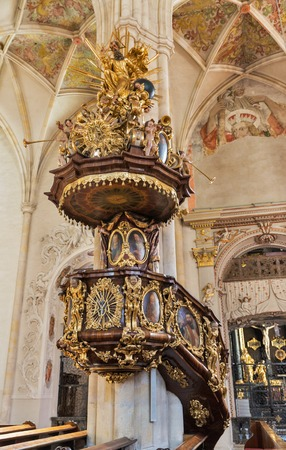 giles: Interior of the Graz Cathedral, the cathedral church dedicated to Saint Giles, Austria. Graz is the capital of federal state of Styria