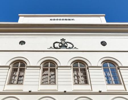 spoken: Schauspielhaus spoken theater old building facade in Graz, Austria. Editorial