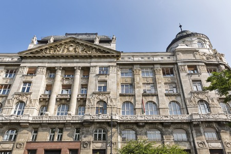 affairs: The Ministry Of Internal Affairs building facade in Budapest downtown, Hungary.