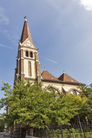 lutheran: Fasori Lutheran Church and Secondary School building in Budapest, Hungary.