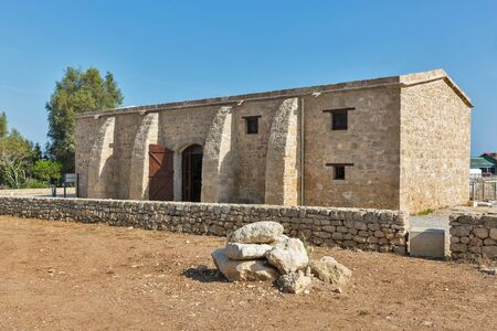 archeological: Ancient building in Paphos Archeological Park, Cyprus. Stock Photo