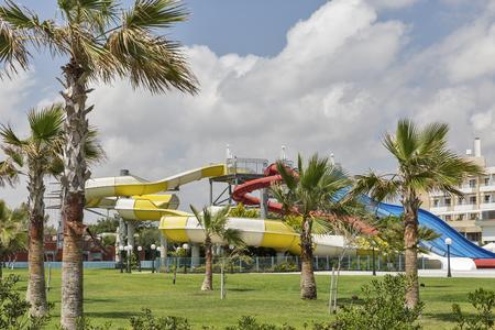 Open air aqua park in Paphos, Cyprus. 版權商用圖片