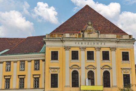 buda: Burgtheater ( Varszinhaz ) building in Budapest Buda Castle district, Hungary