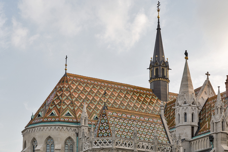 castle district: Matthias church in Buda Castle district, Budapest, Hungary