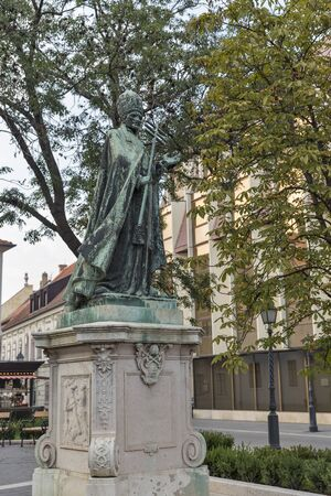 pope: Statue of Innocent XI Pope in Budapest, Hungary Editorial