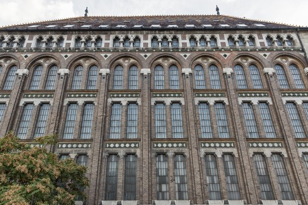 obuda: National Archives of Hungary building Facade, Budapest