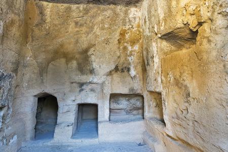 tumbas: Tumbas de los Reyes museo arqueol�gico de Pafos, en Chipre