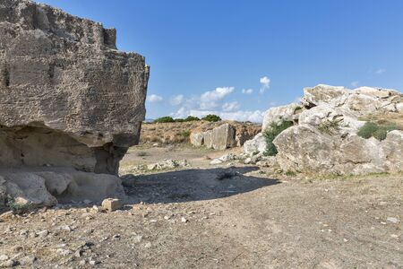 tumbas: Tombs of the Kings archaeological museum in Paphos on Cyprus
