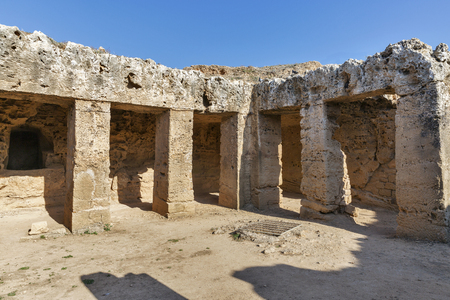 archaeological: Tombs of the Kings archaeological museum in Paphos on Cyprus
