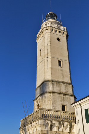 eighteenth: Ancient eighteenth century lighthouse in Rimini, Italy