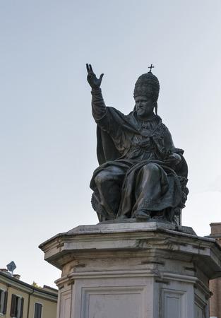 Statue of Pope Paul V in Rimini, Italy