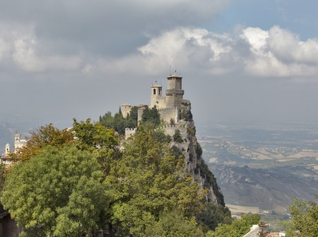 Guaita tower, oldest and most famous tower in San Marino castle.
