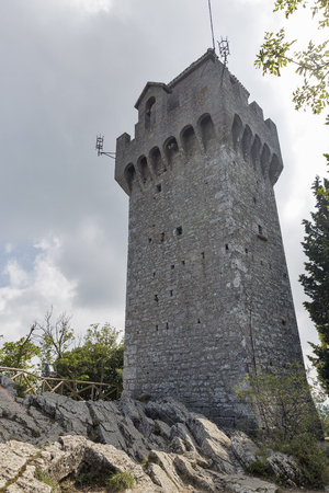 third age: View of the Montale, the third tower of San Marino.