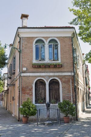 Murano island old residential architecture. Venice, Italy Stock Photo