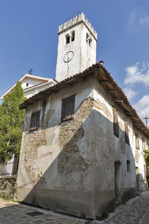 Saint Martin Parish church in Smartno medieval village, Brda region in Western Slovenia.