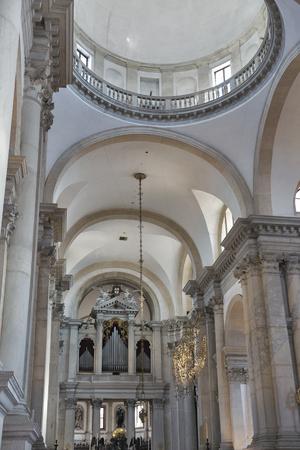 Church of San Giorgio Maggiore interior in Venice, Giudecca island, Italy.